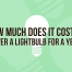 cost to power a light bulb per year